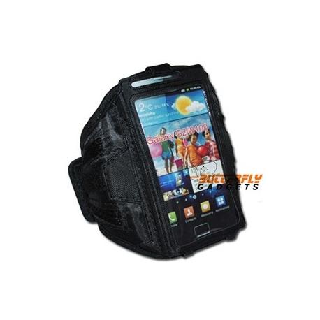 Sportarmband voor de Samsung Galaxy S2 II i9100 - Zwart