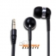 In-Ear stereo headset voor de iPhone, iPad, Samsung, Nokia en Blackberry - Zwart