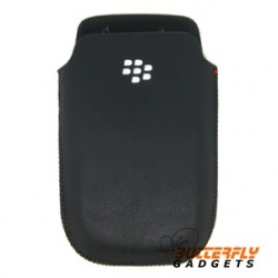 Hoesje (pouch) met magnetische sensor voor de Blackberry Torch 9800 - Zwart