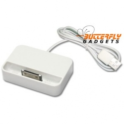 Dockingstation met kabel voor de iPhone 4 en iPhone 4s (wit)