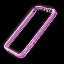 Glow in the Dark bumpercase voor de iPhone 4, iPhone 4s - Paars