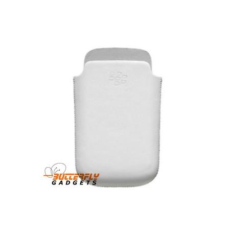 Holster hoesje met magnetische sensor voor de Blackberry Torch 9800 - Wit