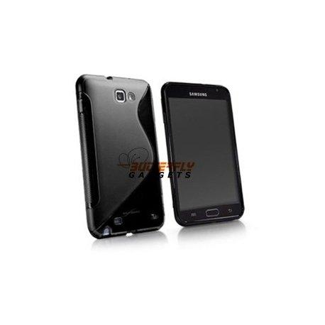 Zachte TPU S-vorm case voor de Samsung Galaxy Note N7000 i9220 - Zwart