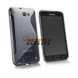 Zachte TPU S-vorm case voor de Samsung Galaxy Note N7000 i9220 - Grijs