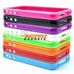 Hoge kwaliteit bumper hoesje - beschermrand voor de iPhone 4 en 4s (in diverse kleuren)