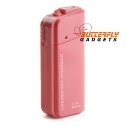 Noodlader (USB) voor de iPhone 3, 3G, 3GS, 4, 4S (roze)