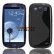 Flexibele TPU back cover voor de achterkant van de Samsung Galaxy S3 i9300, zwart