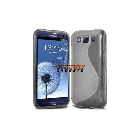 Flexibele TPU back cover voor de achterkant van de Samsung Galaxy S3 i9300, grijs