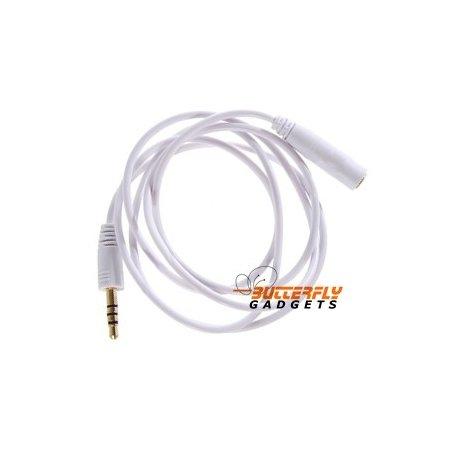 Verlengkabel voor de headset van de iPhone, iPod of iPad - 1 meter, wit