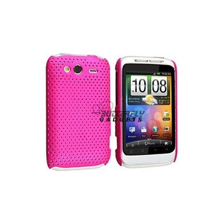 Mesh case cover hoesje voor HTC WildFire S (Fel Roze)