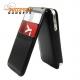Flipcase met dubbele pashouder voor de iPhone 4, 4S (zwart)