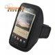 Lichtgewicht sport armband voor o.a. de Samsung Galaxy Note, HTC One X (zwart)