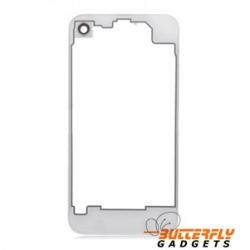 Doorzichtige achterkant van glas voor de achterkant van de iPhone 4 - Wit