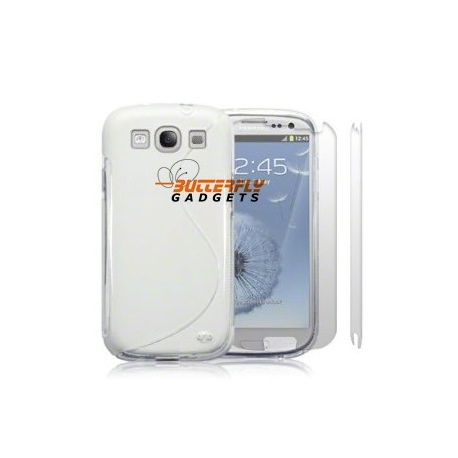 Flexibele TPU cover voor de Samsung Galaxy S3 SIII i9300, transparant wit