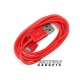 USB data sync kabel voor de iPhone 3, 4 en iPad (rood, 1 meter)
