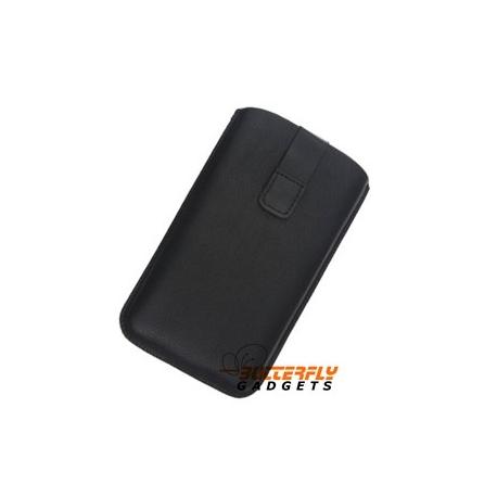Pouch hoesje met klitteband sluiting voor de Samsung Galaxy Note en Note 2